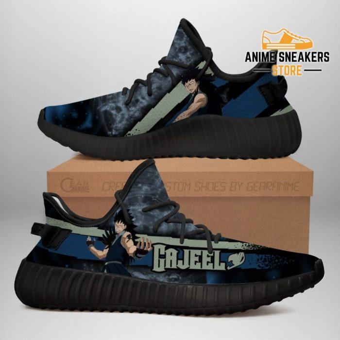 Gajeel Yeezy Shoes Custom Fairy Tail Anime Sneakers Fan Gift Idea Tt05 Men / Us6