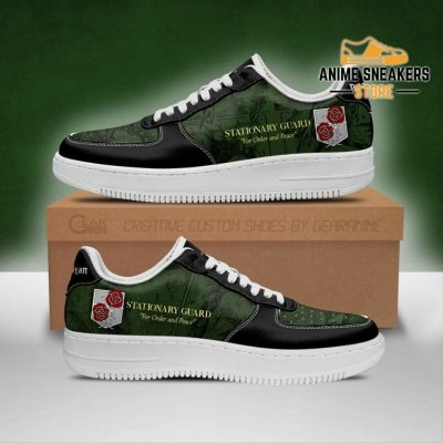Aot Garrison Slogan Sneakers Attack On Titan Anime Shoes Men / Us6.5 Air Force