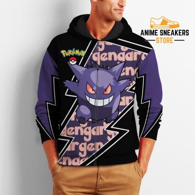 Gengar Zip Hoodie Costume Pokemon Shirt Fan Gift Idea Va06 All Over Printed Shirts
