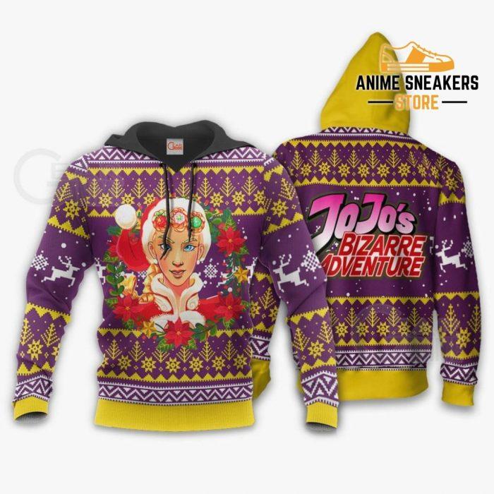 Giorno Giovanna Ugly Christmas Sweater Jojos Bizarre Adventure Anime Va11 Hoodie / S All Over