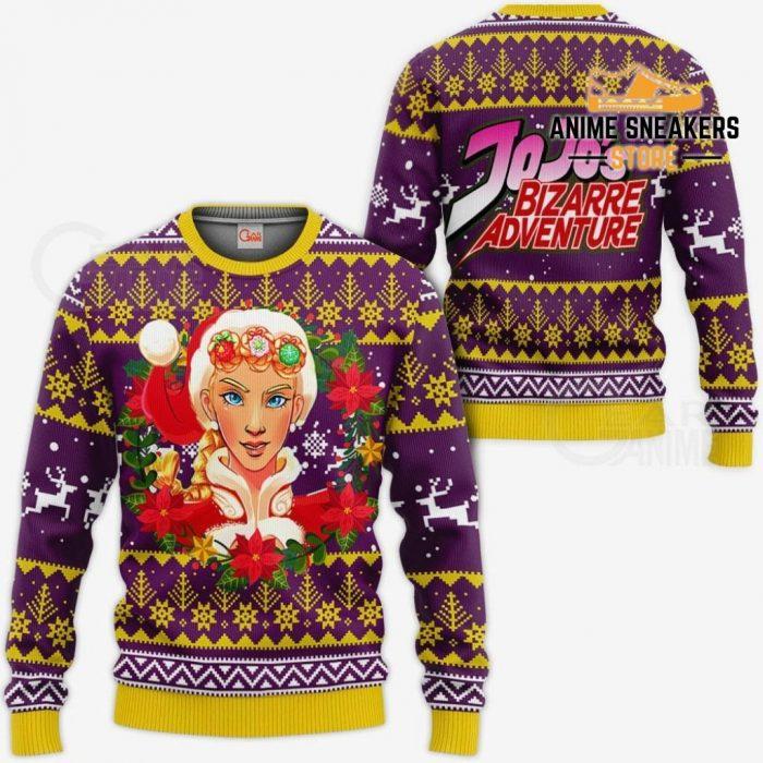 Giorno Giovanna Ugly Christmas Sweater Jojos Bizarre Adventure Anime Va11 / S All Over Printed
