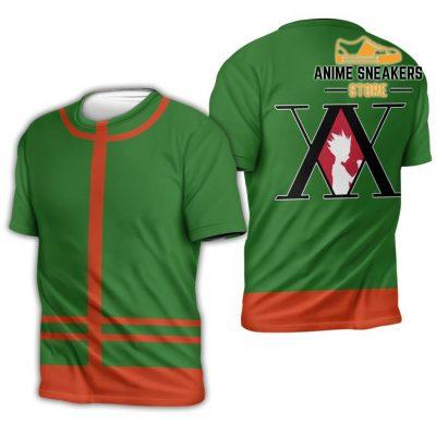Gon Freecss Hunter X Uniform Shirt Hxh Anime Hoodie Jacket T-Shirt / S All Over Printed Shirts