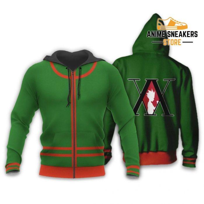 Gon Freecss Hunter X Uniform Shirt Hxh Anime Hoodie Jacket Zip / S All Over Printed Shirts