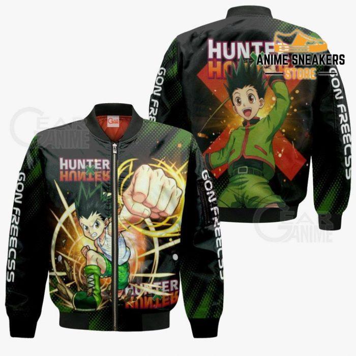 Gon Freecss Shirt Hunter X Custom Anime Hoodie Jacket Bomber / S All Over Printed Shirts