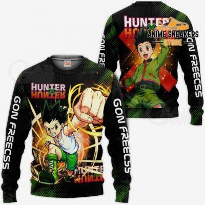 Gon Freecss Shirt Hunter X Custom Anime Hoodie Jacket Sweater / S All Over Printed Shirts