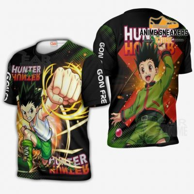 Gon Freecss Shirt Hunter X Custom Anime Hoodie Jacket T-Shirt / S All Over Printed Shirts