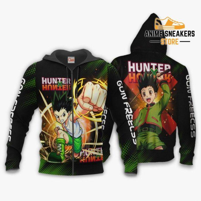 Gon Freecss Shirt Hunter X Custom Anime Hoodie Jacket Zip / S All Over Printed Shirts