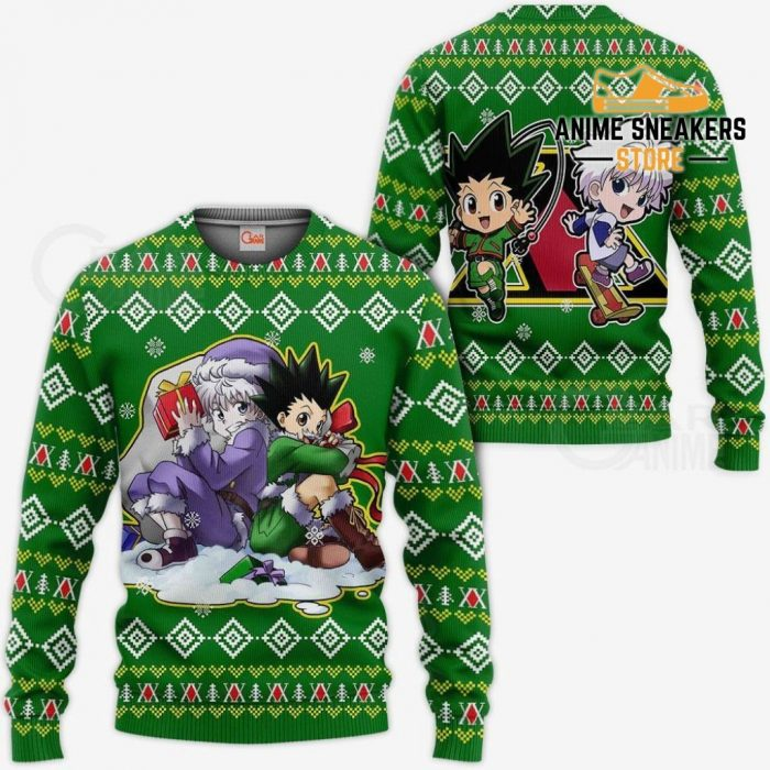 Gon & Killua Hxh Ugly Christmas Sweater Hunter X Anime Xmas / S All Over Printed Shirts