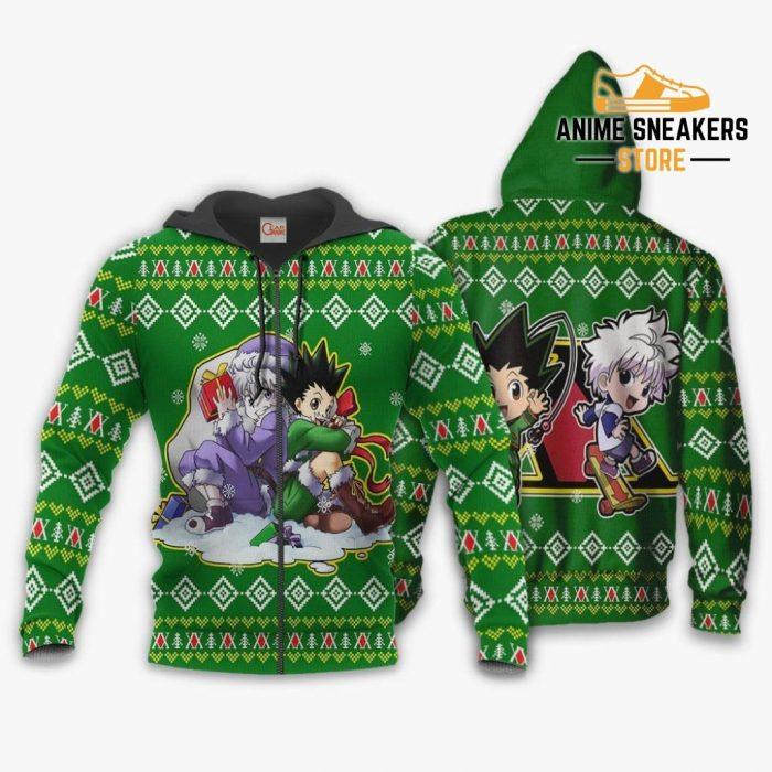 Gon & Killua Hxh Ugly Christmas Sweater Hunter X Anime Xmas Zip Hoodie / S All Over Printed Shirts