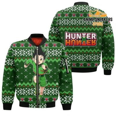 Gon Ugly Christmas Sweater Hunter X Anime Custom Xmas Clothes Bomber Jacket / S All Over Printed