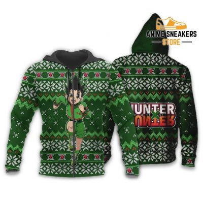 Gon Ugly Christmas Sweater Hunter X Anime Custom Xmas Clothes Zip Hoodie / S All Over Printed Shirts