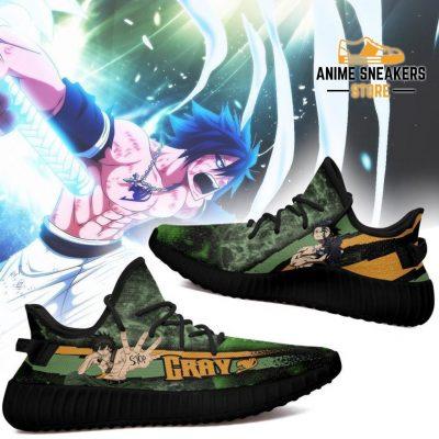 Gray Yeezy Shoes Custom Fairy Tail Anime Sneakers Fan Gift Idea Tt05