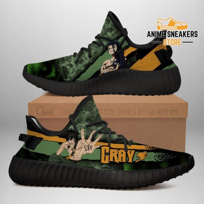 Gray Yeezy Shoes Custom Fairy Tail Anime Sneakers Fan Gift Idea Tt05 Men / Us6