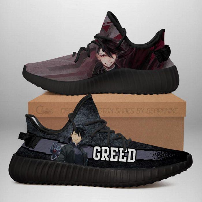 Greed Yeezy Shoes Fullmetal Alchemist Anime Sneakers Fan Gift Idea TT05 Men / US6 Official Fullmetal Alchemist  Merch