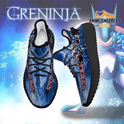 Greninja Yeezy Shoes Pokemon Anime Sneakers Fan Gift Idea Tt04
