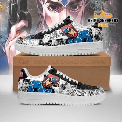 Guido Mista Sneakers Manga Style Jojos Anime Shoes Fan Gift Pt06 Men / Us6.5 Air Force