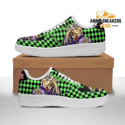 Gyro Zeppeli Sneakers Custom Jojos Anime Shoes Fan Gift Idea Pt06 Men / Us6.5 Air Force