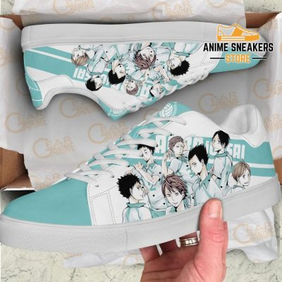 Haikyu Aoba Johsai Skate Shoes Black Haikyu!! Custom Anime