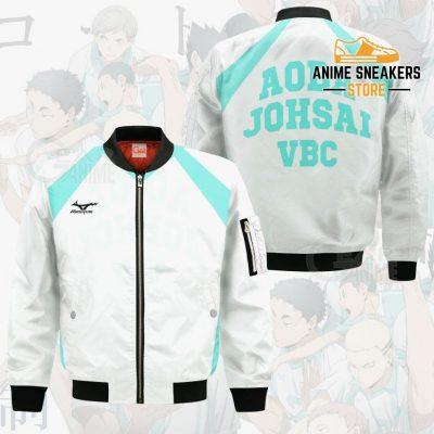Haikyuu Aoba Johsai High Shirt Costume Anime Hoodie Sweater Bomber Jacket / S All Over Printed