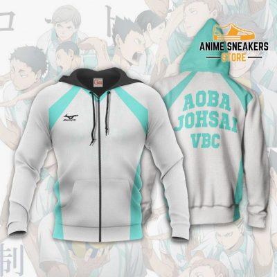 Haikyuu Aoba Johsai High Shirt Costume Anime Hoodie Sweater Zip / S All Over Printed Shirts