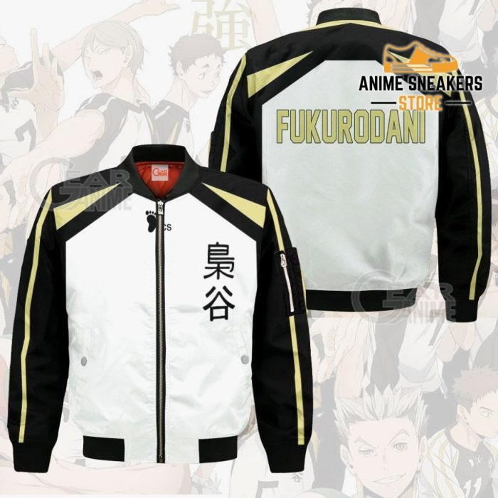 Haikyuu Fukurodani Academy Shirt Costume Anime Hoodie Sweater Bomber Jacket / S All Over Printed
