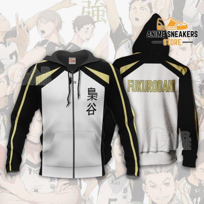 Haikyuu Fukurodani Academy Shirt Costume Anime Hoodie Sweater Zip / S All Over Printed Shirts