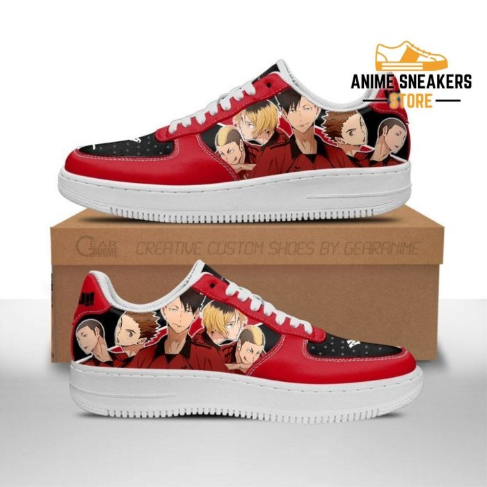 Haikyuu Nekoma High Sneakers Team Anime Shoes Men / Us6.5 Air Force