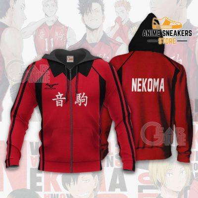 Haikyuu Nekoma High Shirt Costume Anime Hoodie Sweater Zip / S All Over Printed Shirts