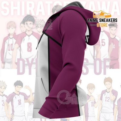 Haikyuu Shiratorizawa Academy Shirt Costume Anime Hoodie Sweater All Over Printed Shirts