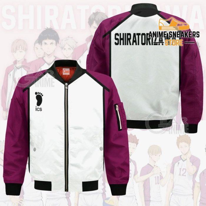 Haikyuu Shiratorizawa Academy Shirt Costume Anime Hoodie Sweater Bomber Jacket / S All Over Printed