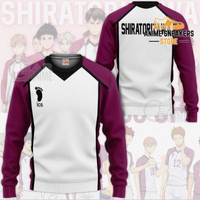 Haikyuu Shiratorizawa Academy Shirt Costume Anime Hoodie Sweater / S All Over Printed Shirts