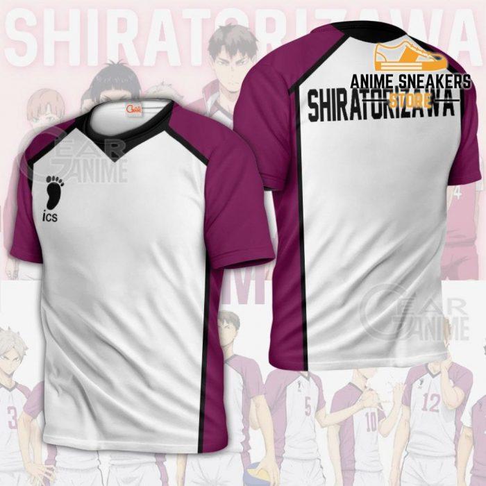 Haikyuu Shiratorizawa Academy Shirt Costume Anime Hoodie Sweater T-Shirt / S All Over Printed Shirts