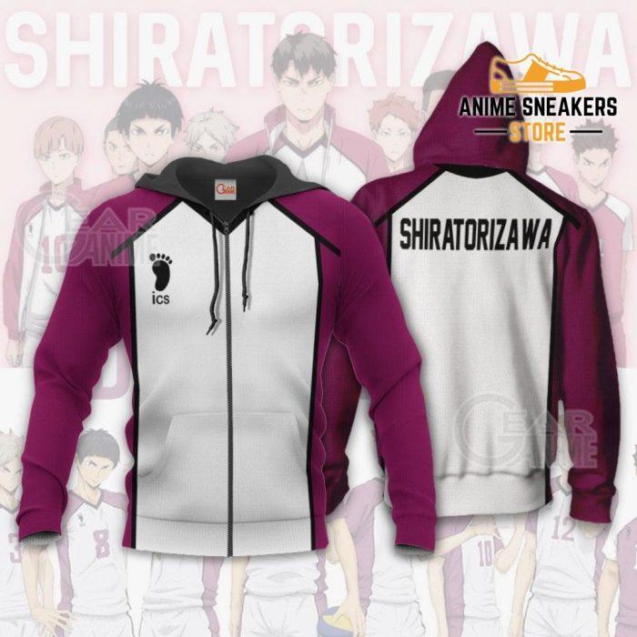 Haikyuu Shiratorizawa Academy Shirt Costume Anime Hoodie Sweater Zip / S All Over Printed Shirts
