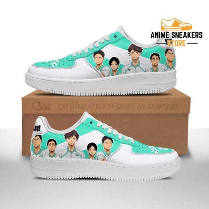 Haikyuu Aobajohsai High Sneakers Team Anime Shoes Men / Us6.5 Air Force