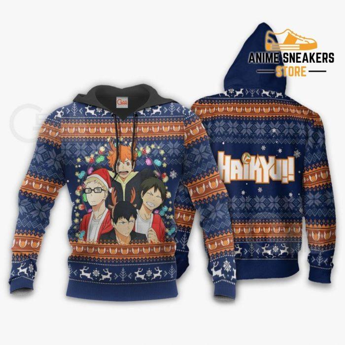 Haikyuu Ugly Christmas Sweater Anime Xmas Gift Va10 Hoodie / S All Over Printed Shirts