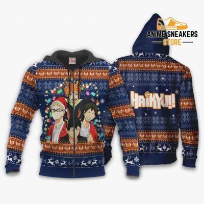 Haikyuu Ugly Christmas Sweater Anime Xmas Gift Va10 Zip Hoodie / S All Over Printed Shirts