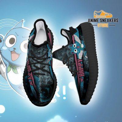 Happy Cat Yeezy Shoes Custom Fairy Tail Anime Sneakers Fan Gift Idea Tt05
