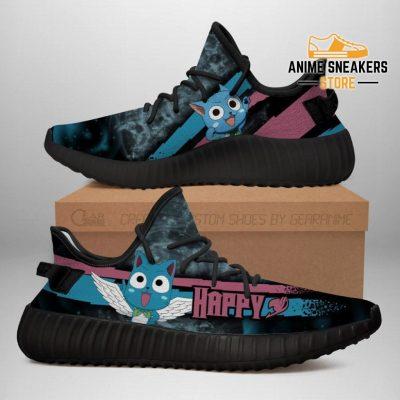 Happy Cat Yeezy Shoes Custom Fairy Tail Anime Sneakers Fan Gift Idea Tt05 Men / Us6