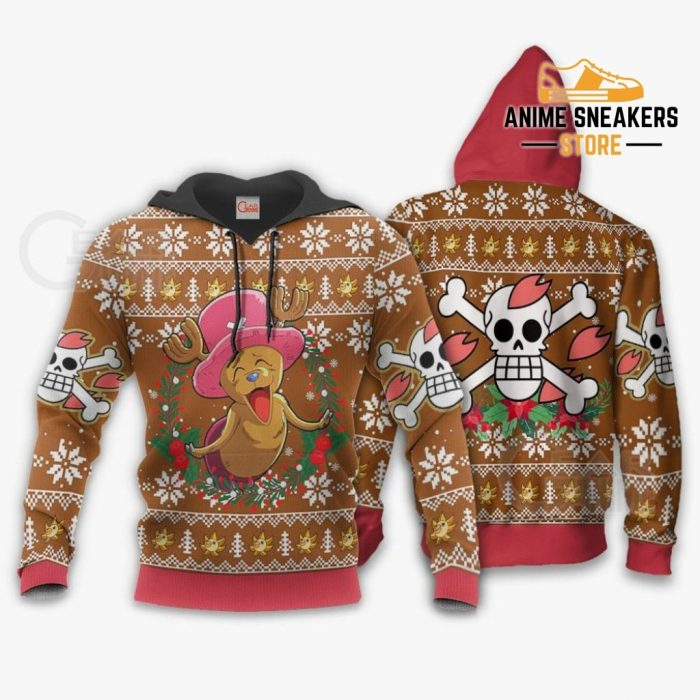 Happy Chopper Ugly Christmas Sweater One Piece Anime Xmas Gift Va10 Hoodie / S All Over Printed