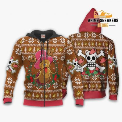 Happy Chopper Ugly Christmas Sweater One Piece Anime Xmas Gift Va10 Zip Hoodie / S All Over Printed