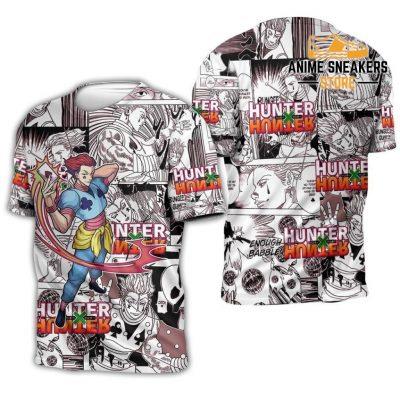 Hisoka Hunter X Shirt Sweater Hxh Anime Hoodie Manga Jacket T-Shirt / S All Over Printed Shirts