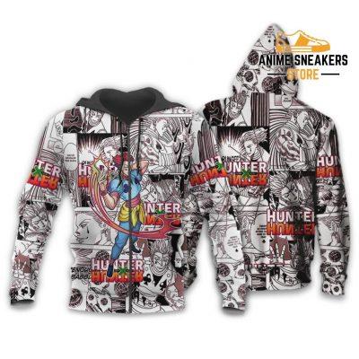 Hisoka Hunter X Shirt Sweater Hxh Anime Hoodie Manga Jacket Zip / S All Over Printed Shirts
