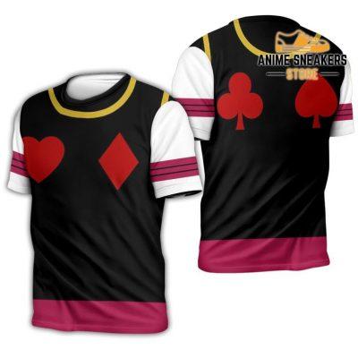 Hisoka Hunter X Uniform Shirt Hxh Anime Hoodie Jacket T-Shirt / S All Over Printed Shirts