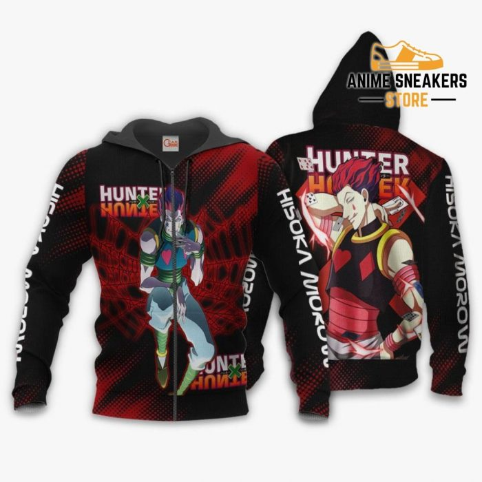 Hisoka Shirt Hunter X Custom Anime Hoodie Jacket Zip / S All Over Printed Shirts