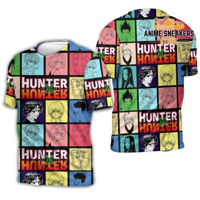 Hunter X Shirt Sweater Hxh Anime Hoodie Jacket T-Shirt / S All Over Printed Shirts