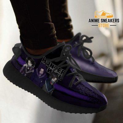 Feitan Yeezy Shoes Custom Hunter X Anime Sneakers Fan Gift Tt04