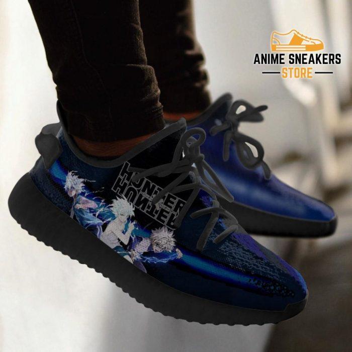 Killua Yeezy Shoes Custom Hunter X Anime Sneakers Fan Gift Tt04
