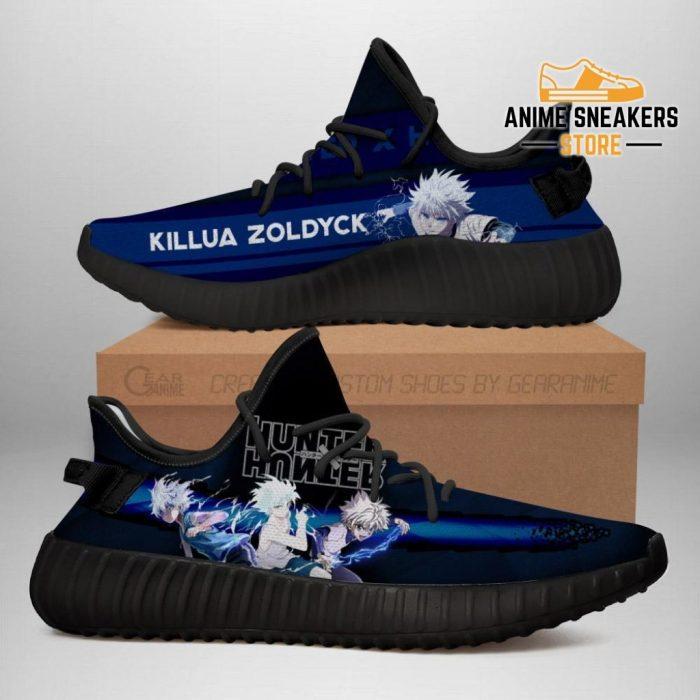 Killua Yeezy Shoes Custom Hunter X Anime Sneakers Fan Gift Tt04 Men / Us6