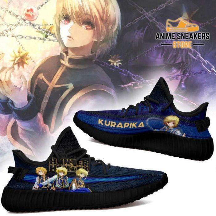 Kurapika Yeezy Shoes Custom Hunter X Anime Sneakers Fan Gift Tt04