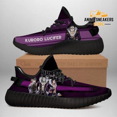 Kuroro Lucifer Yeezy Shoes Custom Hunter X Anime Sneakers Fan Gift Tt04 Men / Us6